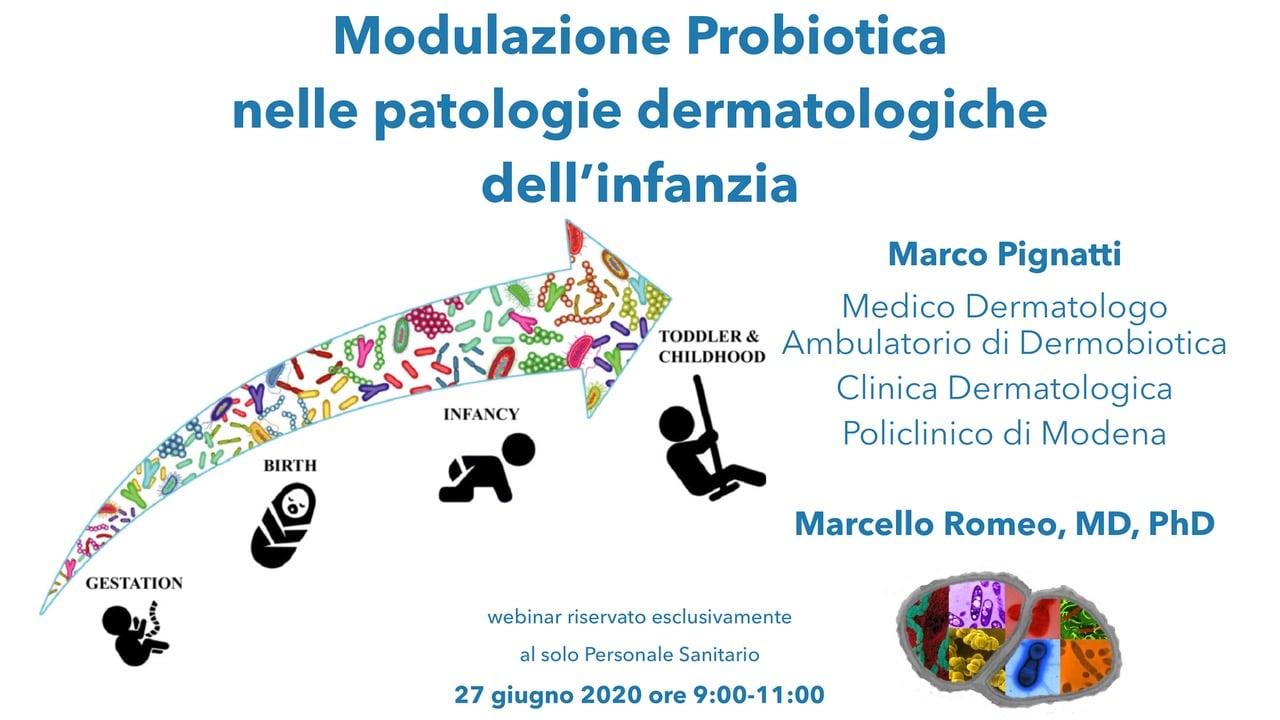 Modulazione probiotica nelle patologie dermatologiche dell'infanzia