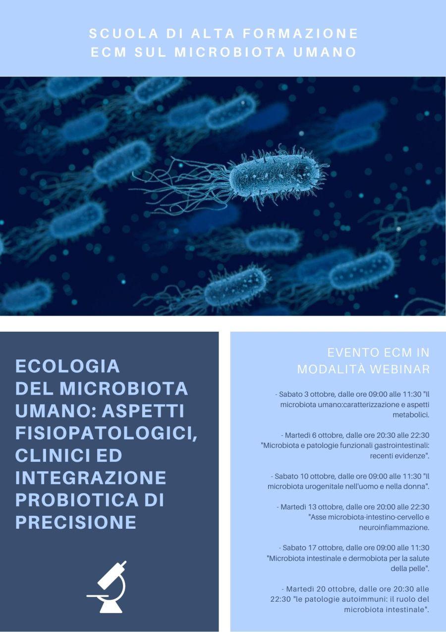 Ecologia del microbiota umano: aspetti fisiopatologici, clinici ed integrazione probiotica di precisione