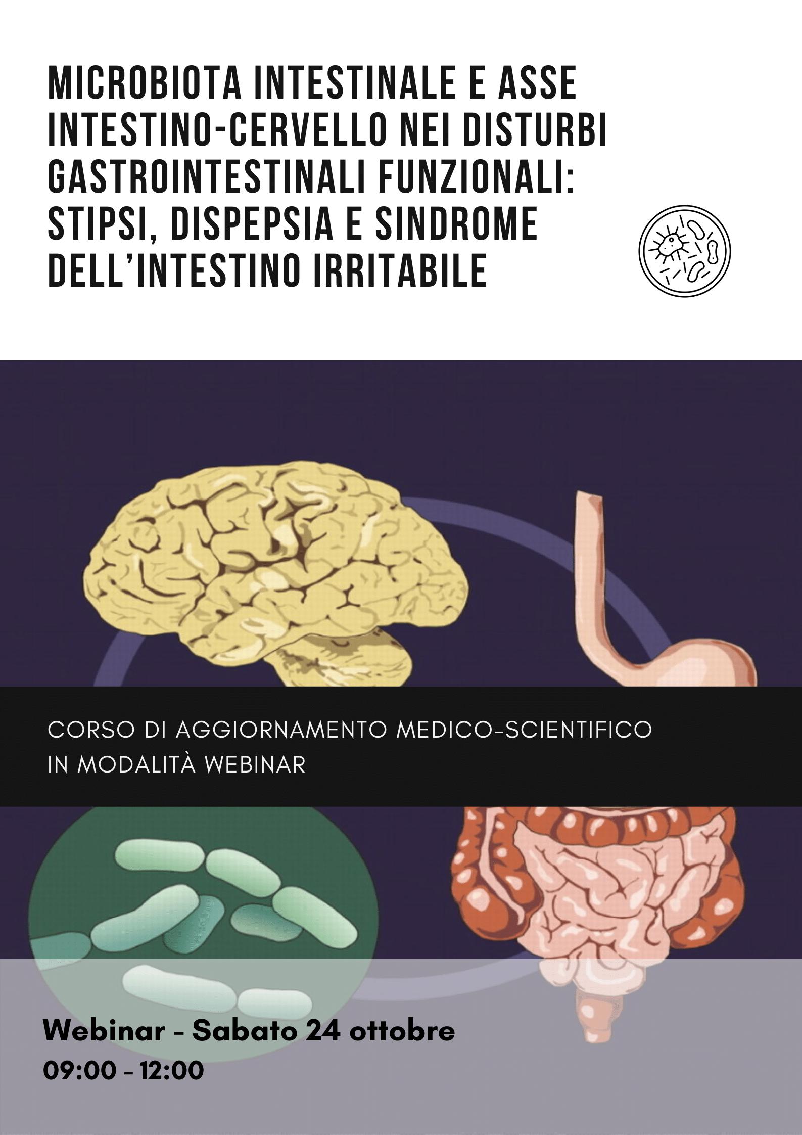 Microbiota intestinale e asse intestino-cervello nei disturbi gastrointestinali funzionali: stipsi, dispepsia e sindrome dell'intestino irritabile 2