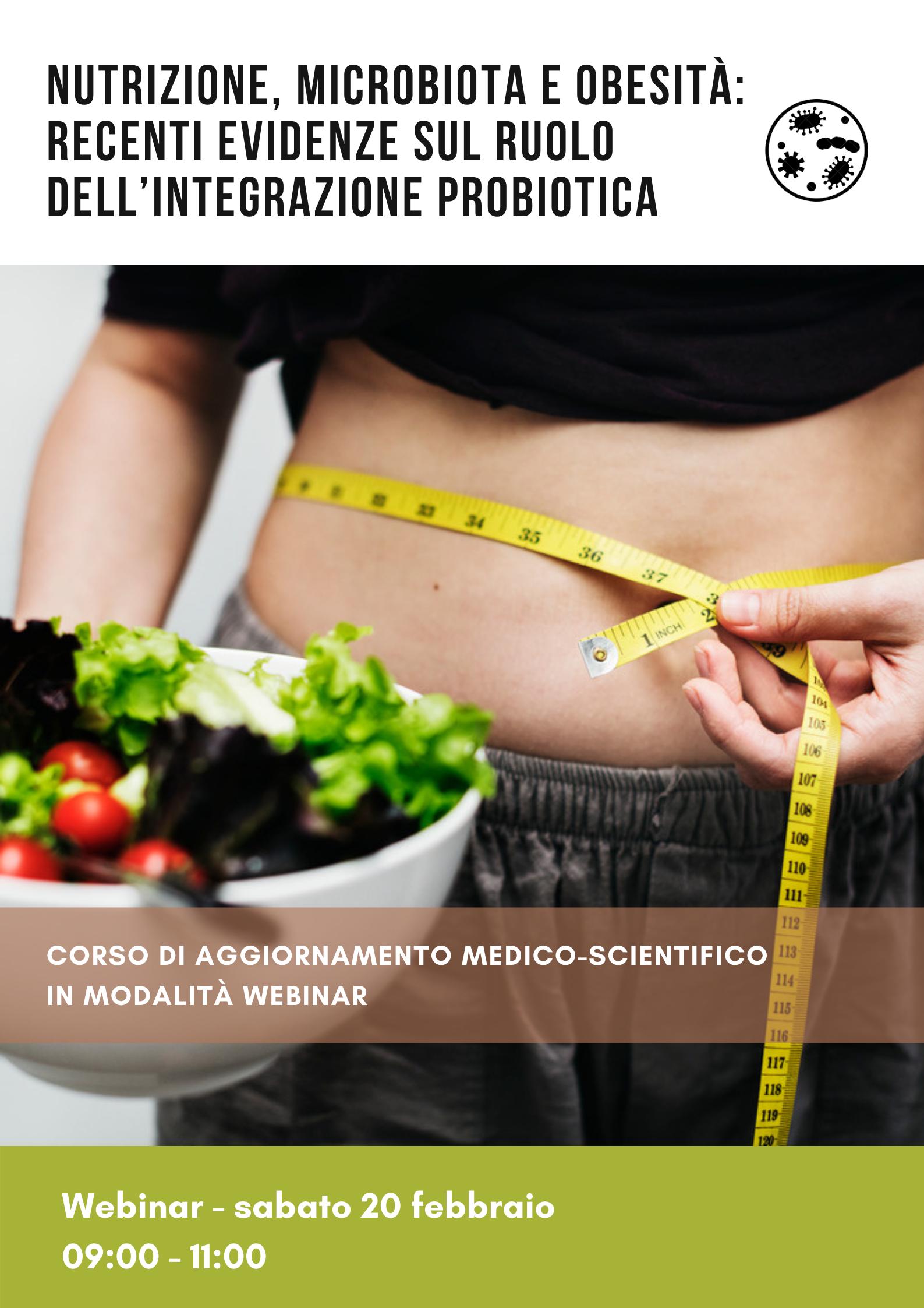 Nutrizione, microbiota e obesità: recenti evidenze sul ruolo dell'integrazione probiotica