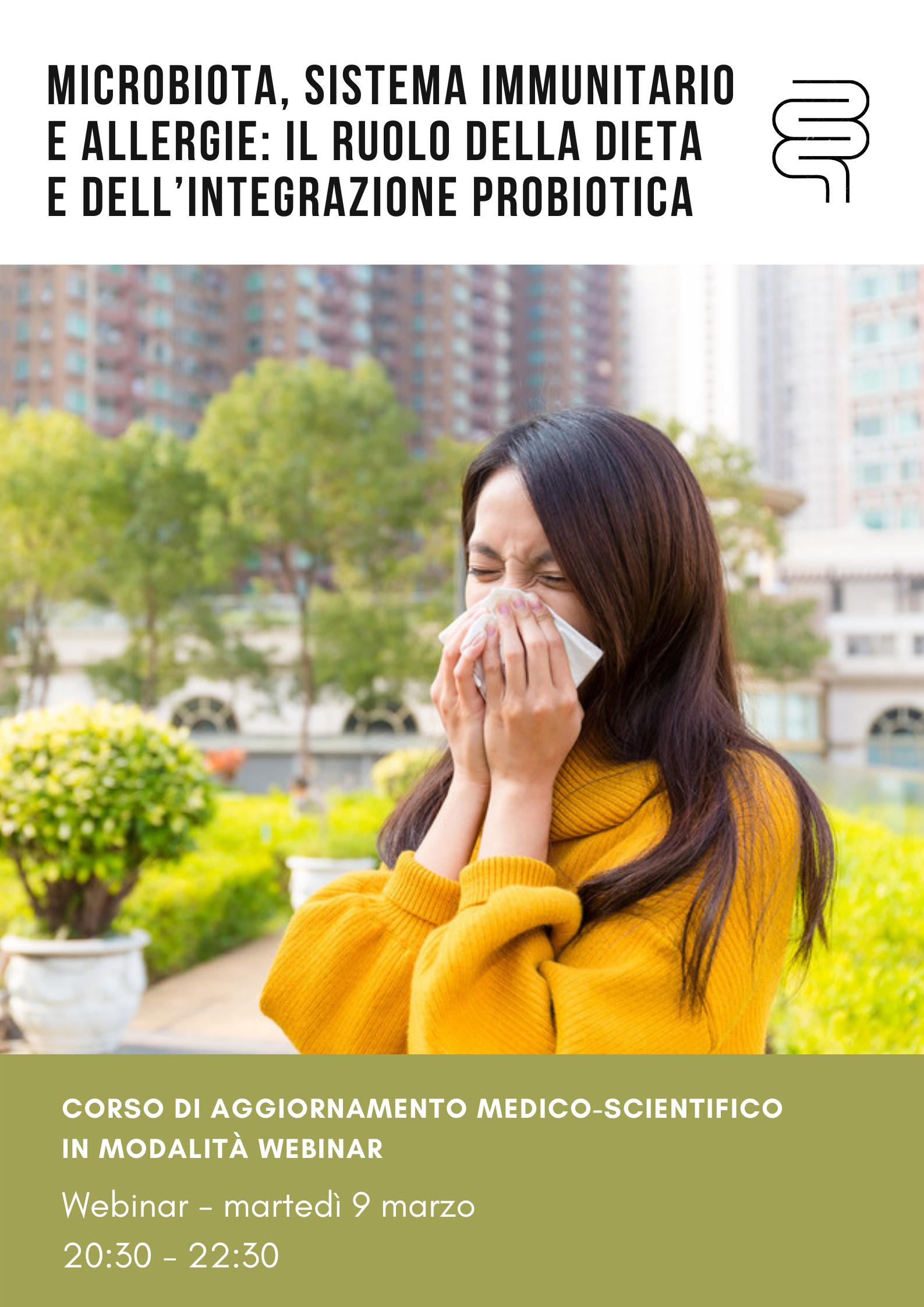 Microbiota, sistema immunitario e allergie: il ruolo della dieta e dell'integrazione probiotica